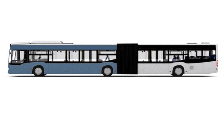 Gelenkbus-Verkehrsseite-vorne