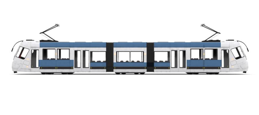 Straßenbahn Rumpf- und Dachkranz